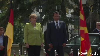 Από την επίσκεψη της Μέρκελ στα Σκόπια την ημέρα επετείου της ανεξαρτησίας
