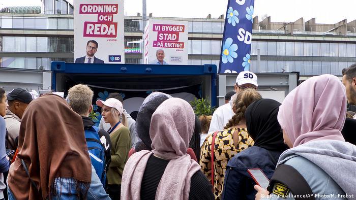 Предвыборная кампания правых популистов в Швеции