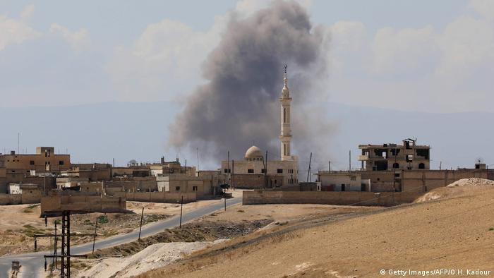Syrien Idlib Luftangriffe der Regierungskoaliltion (Getty Images/AFP/O.H. Kadour)