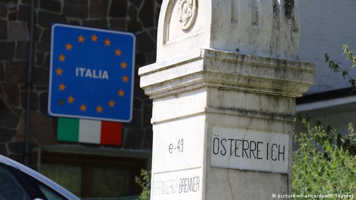 На кордоні між Австрією та Італією