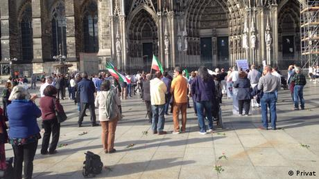 Deutschland Demonstration in Köln zu Menschenrechte im Iran