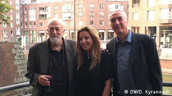 Ο Π. Βούλγαρης με την πρόξενο Μ. Παπακωνσταντίνου και τον διευθυντή του Μουσείου Κινηματογράφου Ντίσελντορφ Μπ. Ντέσιγκερ