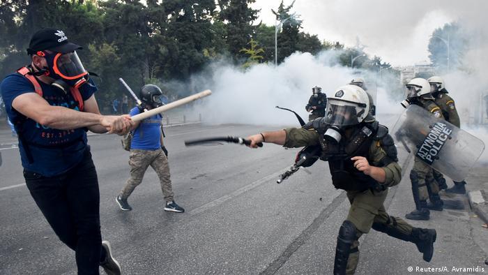 Столкновения с полицией в Салониках