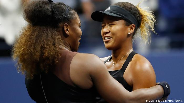 US Open Finale Naomi Osaka Serena Williams Umarmung (USA Today Sports/G. Burke)
