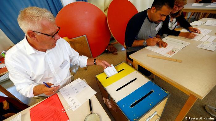 Schweden Stockholm Parlamentswahl (Reuters/I. Kalnins)