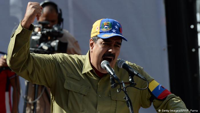 Venezuela Nicolas Maduro wütend (Getty Images/AFP/F. Parra )