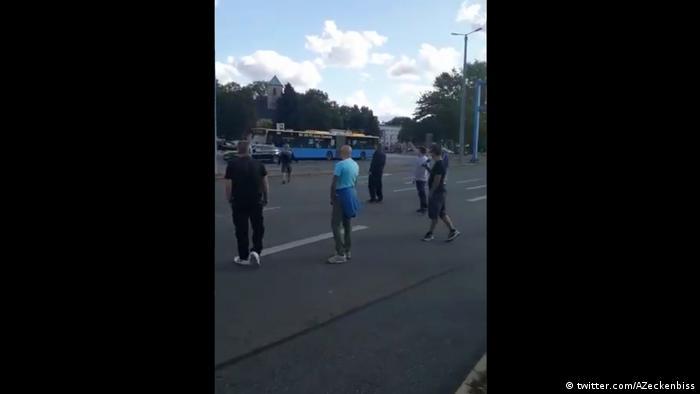 Screenshot Twitter Video Chemnitz Ausschreitungen (twitter.com/AZeckenbiss)