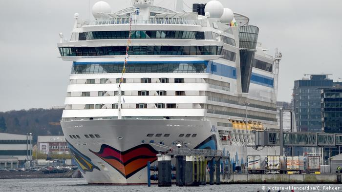 Küblböck was on holiday cruise on board the Aidaluna ship