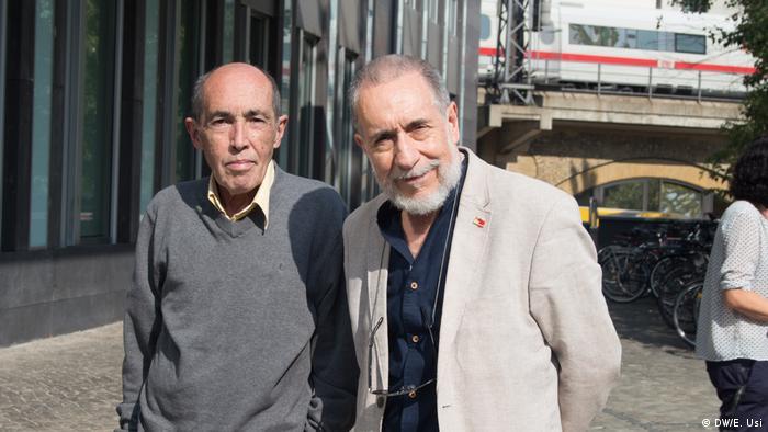 Samuel Houston, izquierda, y José Giribás, derecha.
