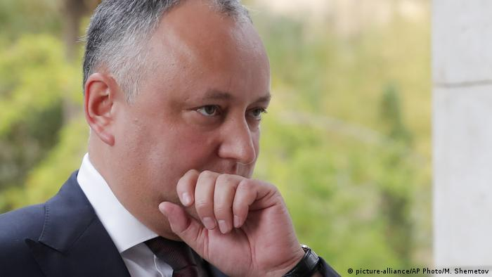 Igor Dodon Präsident Moldawien (picture-alliance/AP Photo/M. Shemetov)
