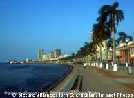 A marginal de Luanda, capital de Angola onde nova manifestação foi convocada para o próximo dia 26 de agosto