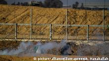 Gaza Grenzzaun zu Israel