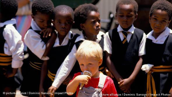 Flash-Galerie Kinder schwarz und weiß Südafrika