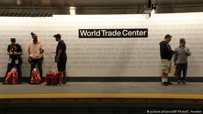 Станция WTC Cortlandt в Нью-Йорке