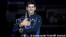 US Open Finale Novak Djokovic Pokal