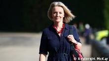 Britain's Chief Secretary to the Treasury Liz Truss walks in Westminster, London, September 10, 2018. REUTERS/Hannah McKay