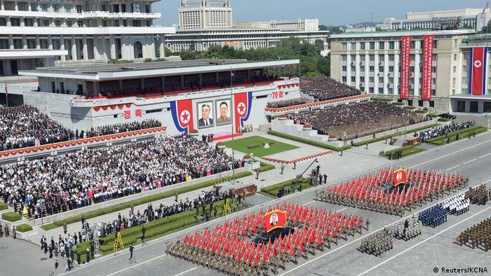 Nordkorea, Pjöngjang: Feierlichkeiten zum 70jährigen Bestehen des Landes