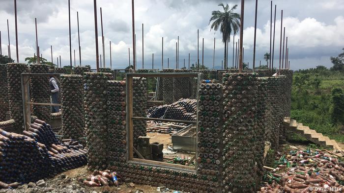 Africa's biggest plastic bottle house in Abuja, Nigeria