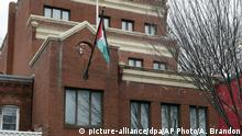 FILE - This Nov. 18, 2017 file photo shows the Washington office of the Palestine Liberation Organization. The U.S. has notified the Palestinians it's closing their mission in Washington, a senior official said Monday, Sept. 10, 2018, the latest in a series of American blows to the Palestinians. A provision in a U.S. law says the PLO mission must close if the Palestinians try to get the International Criminal Court to prosecute Israelis for crimes against Palestinians. (AP Photo/Alex Brandon, File) |