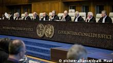 FILES - epa04118442 Judges of the International Court of Justice (ICC) sit in the courtroom during the first day of the witnesses in the Croatia vs. Serbia case in the Peace Palace in The Hague, The Netherlands, 10 March 2014. Croatia accuses neighboring country Serbia of committing genocide in the 1990s at the breakup of Yugoslavia. EPA/BART MAAT (zu dpa Höchstes UN-Gericht entscheidet zu Völkermord-Klagen am 02.02.2015) +++(c) dpa - Bildfunk+++ |