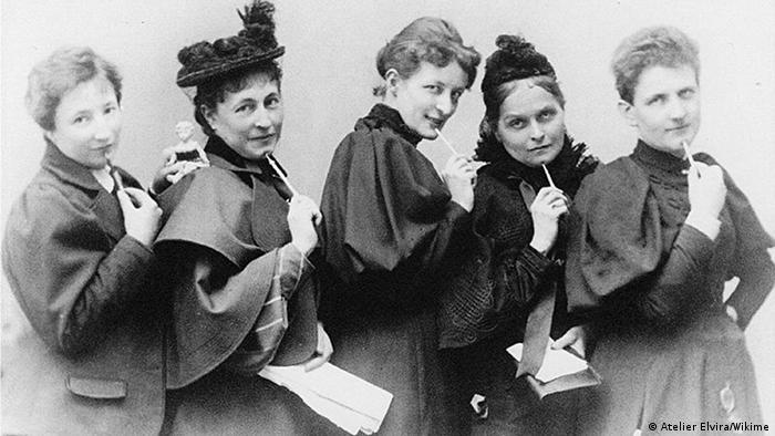 Anita Augspurg, Marie Stritt, Lily von Gizycki, Minna Cauer, Sophia Goudstikker, um 1894