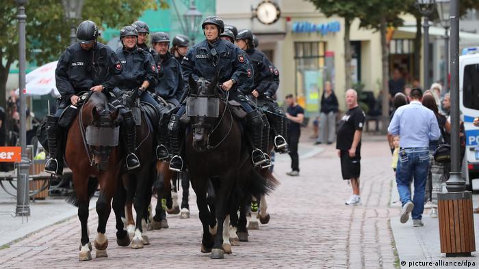 پولیس آلمان در ماموریت هایش از اسب استفاده می کند. هیچ یک از این سه سازمان آلمانی دیگر از زنبورها، خوک وحشی و کرکس ها در ماموریت هایش استفاده نمی کند، جانورانی که هنوز هم در برخی از کشورها از آنان استفاده می شود.