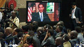 Kenia USA Hillary Clinton in Nairobi Videobotschaft von Obama