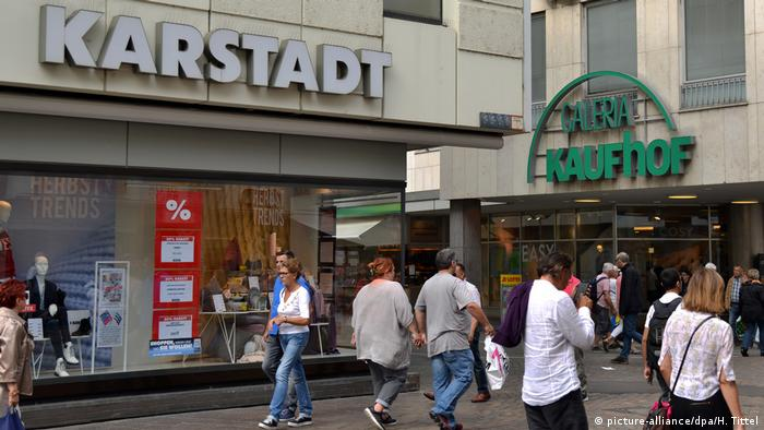 A Karstadt and a Galeria Kaufhof branch, right next to each other, in Trier. A merger several years ago between two high street giants that used to be rivals means their stores are often in extreme proximity to each other.