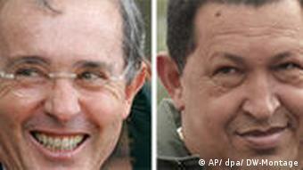 Kombobild Uribe und Chavez