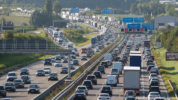 Congested German autobahn