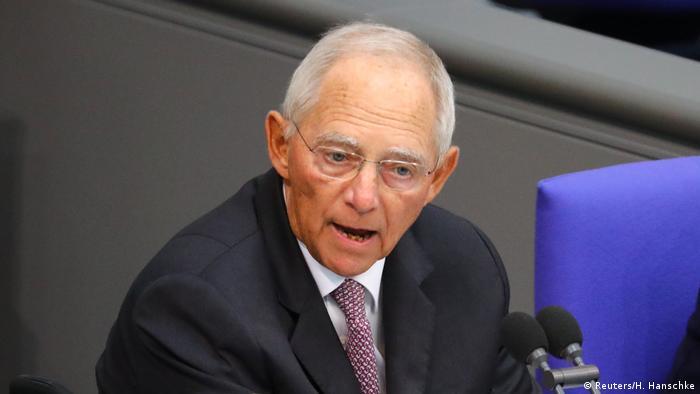 Bundestag Haushaltsdebatte 2019 Schäuble (Reuters/H. Hanschke)