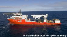 This undated handout picture released Wednesday, Jan. 10, 2018 by the company Ocean Infinity shows the vessel 'Seabed Constructor' which has been dispatched to the southern Indian Ocean to search for the wreckage of the missing plane, MH370. Malaysia's government said Wednesday it will pay U.S. company Ocean Infinity up to $70 million if it can find the wreckage or black boxes of Malaysia Airlines Flight 370 within three months, in a renewed bid to solve the plane's disappearance nearly four years ago. (Ocean Infinity via AP) |