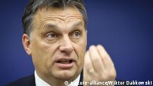 ARCHIV 2011 *** Hungarian Prime Minister Viktor Orban gives a press conference after a speech on his country's goals as it takes on the six-month rotating European Union presidency at the EU Parliament in Strasbourg, France on 2011-01-19 by Wiktor Dabkowski | Verwendung weltweit