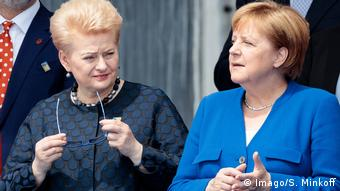 Dalia Grybauskaite with Angela Merkel