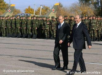 گشایش نخستین پایگاه نظامی روسیه در قرقیزستان در سال ۲۰۰۳