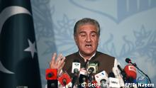Pakistan Shah Mehmood Qureshi, Außenminister (Getty Images/AFP/F. Naeem)