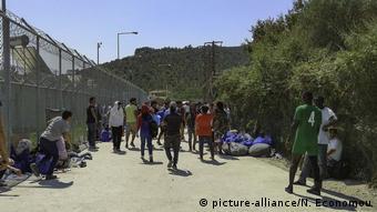 Το κέντρο υποδοχής μεταναστών στη Μόρια