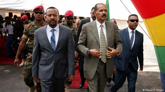 Äthiopien Addis Ababa - Isaias Afwerki und Abiy Ahmed