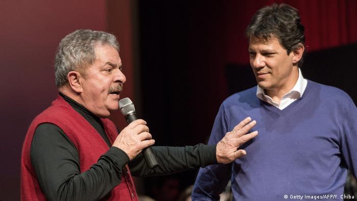 Луїс Інасіу Лула да Сілва (л) та Фернандо Хаддад (фото з архіву)