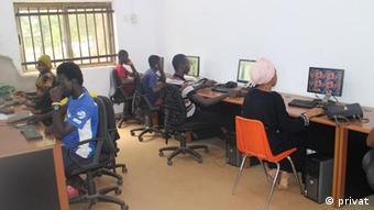 The inside of Tamal ICT center in Ghana