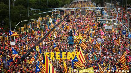 У Барселоні до мільйона людей вийшли на підтримку незалежності Каталонії