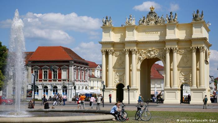 A cidade de Potsdam, capital de Brandemburgo