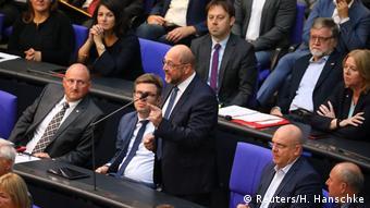 Martin Schulz fala no Parlamento alemão