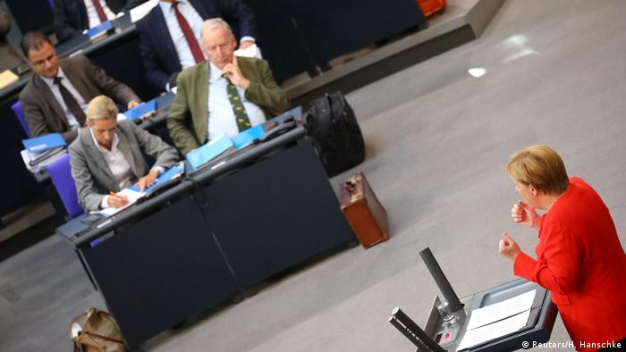 Merkel and the AfD in the Bundestag