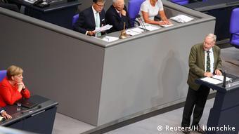 Gauland speaks in the Bundestag (Reuters/H. Hanschke)