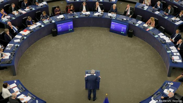 Sessão no Parlamento Europeu em Estrasburgo, na França