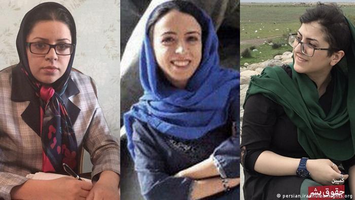 هدی عمید، وکیل دادگستری و فعال حقوق زنان (نفر اول سمت چپ) در شهریور ۹۷ در خانهاش دستگیر شد. او پس از دو ماه حبس در زندان اوین، با قرار وثیقه آزاد شد. هدی عمید و نجمه واحدی (سمت راست)، کارگاههای آموزشی در زمینه شروط ضمن عقد برای زنان برگزار میکردند. این دو همزمان با رضوانه محمدی، فعال برابری جنسیتی (نفر وسط) بازداشت شدند.