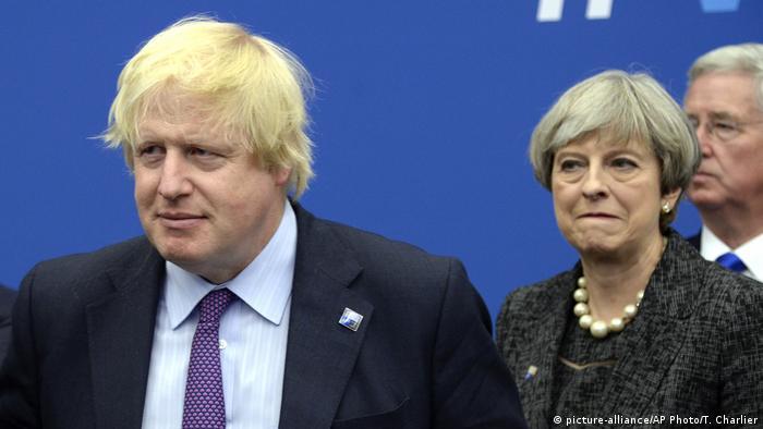 Großbritannien Boris Johnson und Premierministerin Theresa May