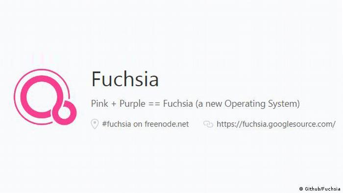 Screenshot - Fuchsia auf der Platform Github