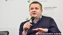 Oleksiy Koschel, der Vorsitzender des Komitees der Wähler der Ukraine (Committee of Voters of Ukraine - CVU)